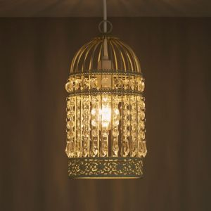 Image of Isobel Cream Birdcage Light shade (D)150mm