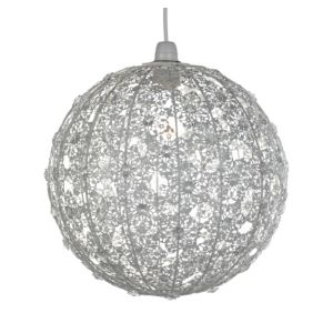 View Lights By B&Q Maisie White Lace Light Shade (D)30cm details