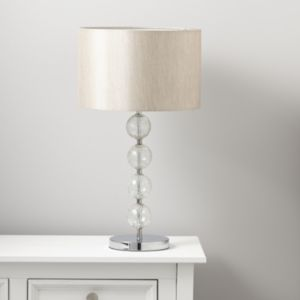 View Gina Crackled Glass Cream Chrome Effect Table Lamp details