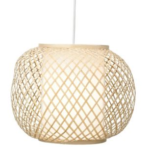 View Lights By B&Q Joyce Beige Bamboo Effect Rattern with Inder Diffuser Light Shade details