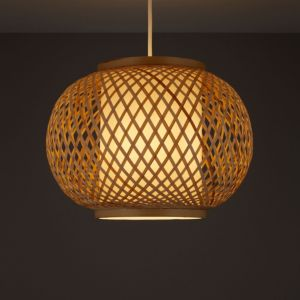 Image of Joyce Natural Rattan with inner diffuser Light shade (D)330mm