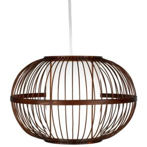 View Lights By B&Q Mandy Bamboo Effect Bamboo with Inner Diffuser Light Shade (D)30cm details