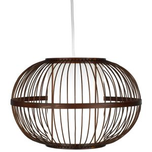 Image of Mandy Brown Bamboo with inner diffuser Light shade (D)300mm