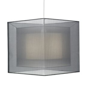 View Colours Taylor Grey Triple Layered Light Shade details