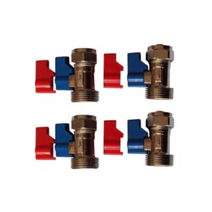 Plumbsure Brass Tap Isolation Valve (Thread)34  Pack of 4