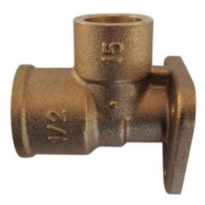 View Plumbsure 977352-NP Brass Wall Plate Elbow details