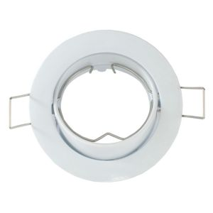 View Lights By B&Q White Gloss Metal Downlight Surround details