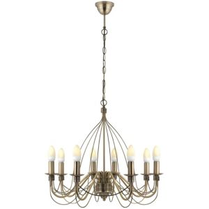 View Vas Birdcage Antique Brass Effect 8 Lamp Pendant Ceiling Light details