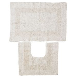 View B&Q Cream Cotton Bath & Pedestal Mat (L)700mm (W)500mm details