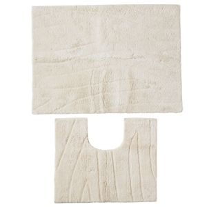 View Cooke & Lewis Cream Stripped Cotton Bath & Pedestal Mat (L)750mm (W)500mm details