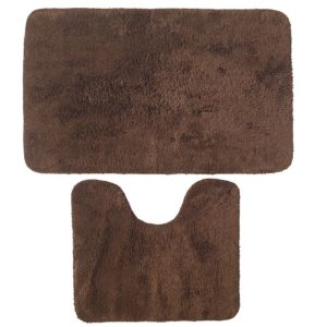 View B&Q Value Brown Cotton Bath & Pedestal Mat (L)800mm (W)500mm details