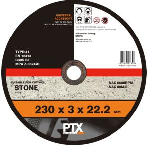 View PTX Flat Stone Cutting Disc (Dia)230mm details