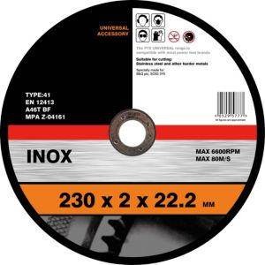 View PTX Straight Inox Cutting Disc (Dia)230mm details