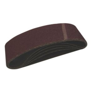 View PTX (W) 75mm (L) 533mm Coarse 80 Grit Sanding Belt, Pack of 3 details