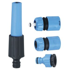 View B&Q Black & Blue Nozzle Starter Set details