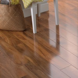 View Dolce High Gloss Walnut Effect Laminate Flooring 1.19 m² Pack details