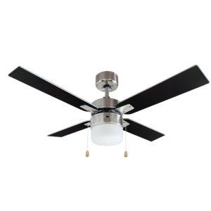 San Antonio Brushed Chrome Effect Ceiling Fan Light