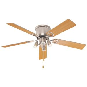 View Austin Stainless Steel Effect Ceiling Fan Light details