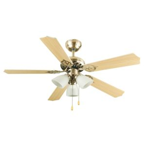 View Carolina Antique Brass Effect Ceiling Fan Light details