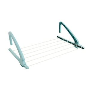 View B&Q White & Blue Multi Purpose Airer Pack of 1, (H)560mm (W)38cm details