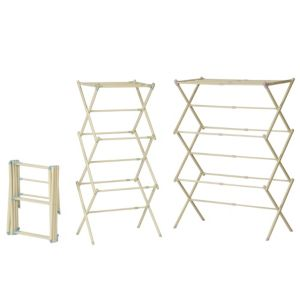 View B&Q White & Blue 3 Tier Expandable Airer Pack of 1, (H)535mm (W)44cm details