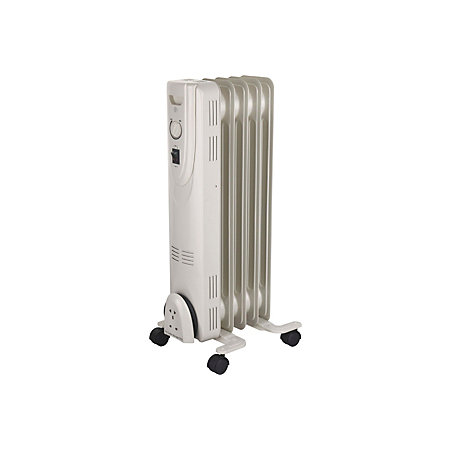 b q electric 1100w white oil filled radiator departments. Black Bedroom Furniture Sets. Home Design Ideas