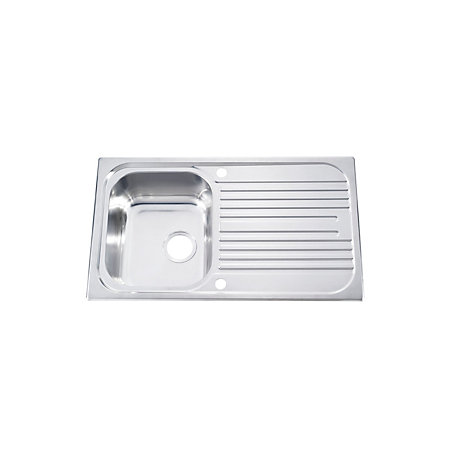 ... Bowl Satin Stainless Steel Sink & Drainer Departments DIY at B&Q