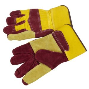 View B&Q Leather Work Gloves details