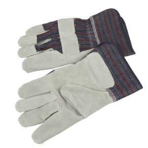 View B&Q Fabric & Leather Rigger Gloves details