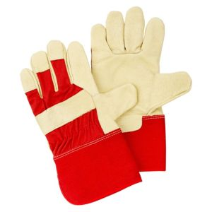 View B&Q Cotton & Leather Rigger Gloves details