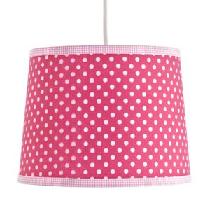 View Colours Suisei Pink Gold Effect Polka Dot Light Shade details