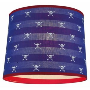 View Colours Suisei Blue, Red & White Tapered Light Shade (D)25.5cm details