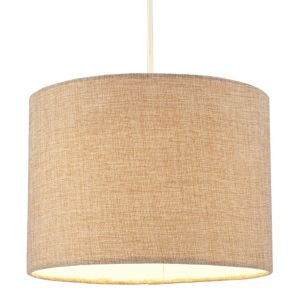 View Colours Harstad Beige Woven Light Shade (Dia)305mm details