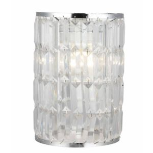 View Colours Dione Chrome Effect Beaded Light Shade details
