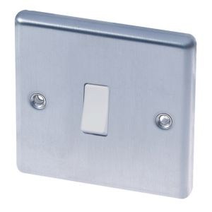 Image of LAP 10A 2-Way Single Brushed steel 10AX Switch