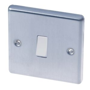 Image of LAP 10A Stainless steel Light switch