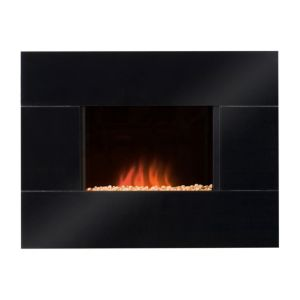 View Blyss ENYA Black LED Display Wall Hung Electric Fire details