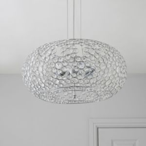 View Avella Chrome Effect 2 Lamp Pendant Ceiling Light details