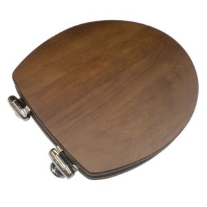 View Cooke & Lewis Spa Walnut Soft Close Toilet Seat details