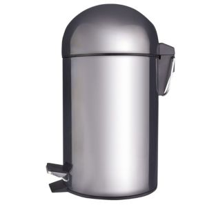 Image of Cooke & Lewis Dome Chrome Effect Steel Bullet Pedal Bin 3L