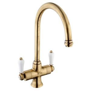 View Cooke & Lewis Chambley Antique Brass Effect Monobloc Tap details