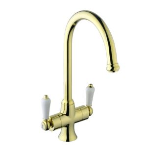 View Cooke & Lewis Chambley Polished Brass Monobloc Tap details