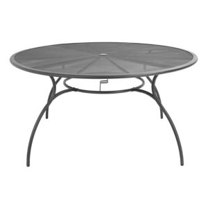 View Coburg Metal 6 Seater Round Table Dark Grey details