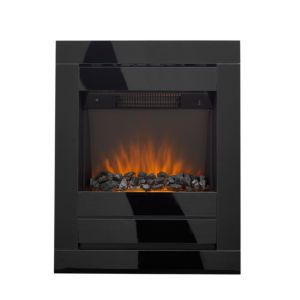 Image of Cristal Black Glass LED Internal & External Electric Fire
