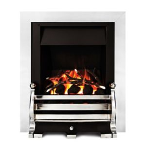 Image of Ignite Fairfield Chrome effect Gas Fire