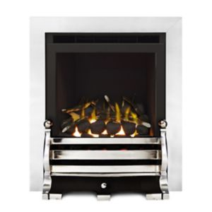 Image of Ignite Fairfield Glass Fronted Chrome effect Gas Fire