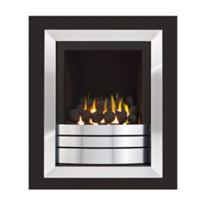 Image of Ignite Easton Portrait High Efficiency Graphite Chrome effect Gas Fire