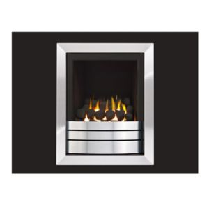 Image of Ignite Easton Landscape High Efficiency Graphite Chrome effect Gas Fire