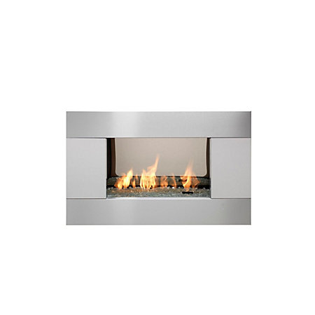 Ignite Pittsburgh Brushed Steel Manual Control Inset Gas