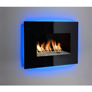 Image of Ignite Fontana Black Manual Control Inset Gas Fire